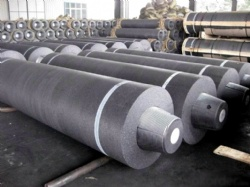 EAF UHP Grade Graphite Electrodes Of Dia 600mm With Suitable Nipples and Nominal Length 2100 mm